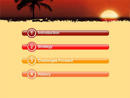 Tropical Sunset PowerPoint Template, Slide 3, 05128, Nature & Environment — PoweredTemplate.com