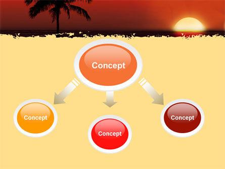 Tropical Sunset PowerPoint Template, Slide 4, 05128, Nature & Environment — PoweredTemplate.com