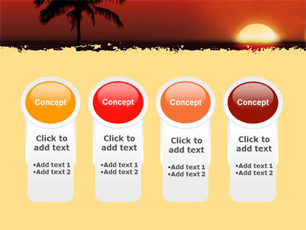 Tropical Sunset PowerPoint Template Slide 5