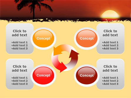Tropical Sunset PowerPoint Template Slide 9