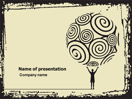 Abstract/Textures: Ornamental PowerPoint Template #05129