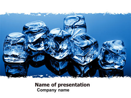 Ice Cubes PowerPoint Template, 05130, Food & Beverage — PoweredTemplate.com