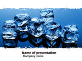 Food & Beverage: Ice Cubes PowerPoint Template #05130