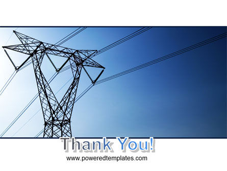 Power Lines Mast PowerPoint Template Slide 20