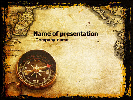Old Map PowerPoint Template, 05132, Careers/Industry — PoweredTemplate.com