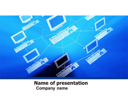 Computers: Computer Net PowerPoint Template #05133