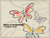 Abstract/Textures: Butterflies PowerPoint Template #05134