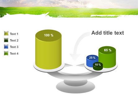 Aurora Over The Green Field PowerPoint Template Slide 10