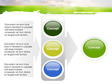 Aurora Over The Green Field PowerPoint Template Slide 11