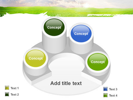 Aurora Over The Green Field PowerPoint Template Slide 12