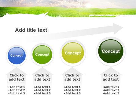 Aurora Over The Green Field PowerPoint Template Slide 13
