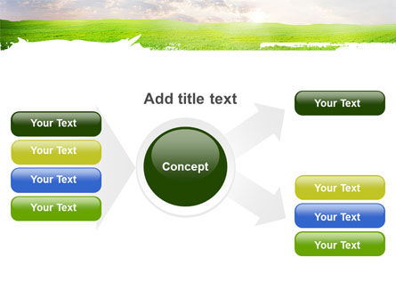 Aurora Over The Green Field PowerPoint Template Slide 14