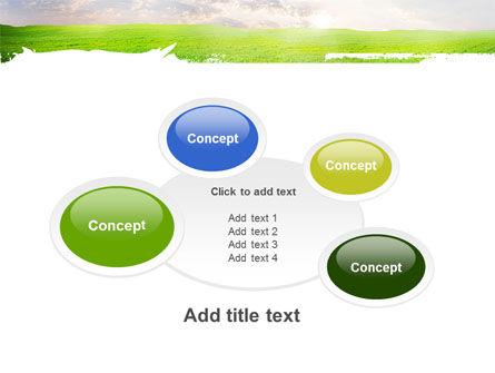 Aurora Over The Green Field PowerPoint Template Slide 16