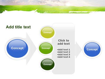 Aurora Over The Green Field PowerPoint Template Slide 17