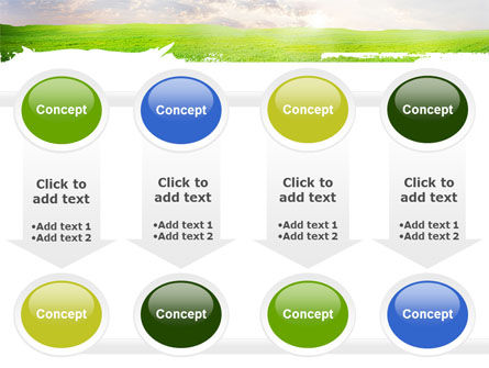 Aurora Over The Green Field PowerPoint Template Slide 18