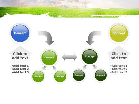 Aurora Over The Green Field PowerPoint Template Slide 19