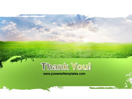 Aurora Over The Green Field PowerPoint Template Slide 20