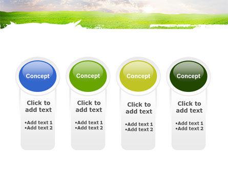 Aurora Over The Green Field PowerPoint Template Slide 5
