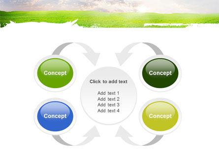 Aurora Over The Green Field PowerPoint Template Slide 6