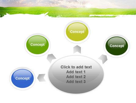 Aurora Over The Green Field PowerPoint Template Slide 7