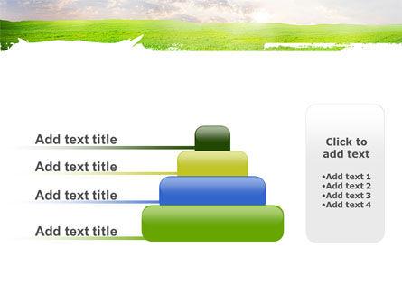 Aurora Over The Green Field PowerPoint Template Slide 8