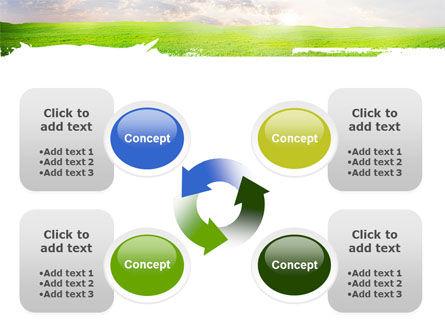 Aurora Over The Green Field PowerPoint Template Slide 9
