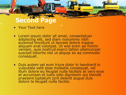 Excavator PowerPoint Template, Slide 2, 05136, Utilities/Industrial — PoweredTemplate.com