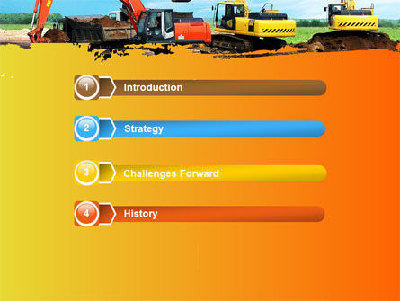 Excavator PowerPoint Template, Slide 3, 05136, Utilities/Industrial — PoweredTemplate.com