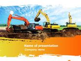 Utilities/Industrial: Excavator PowerPoint Template #05136