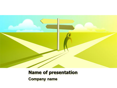 Consulting: Crossroad Sign PowerPoint Template #05137