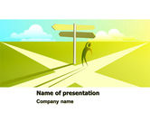 Crossroad Sign PowerPoint Template#1