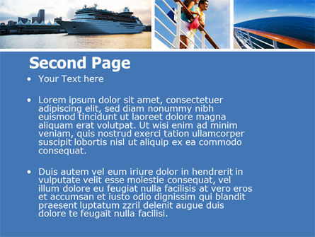 Cruise PowerPoint Template, Slide 2, 05138, Health and Recreation — PoweredTemplate.com