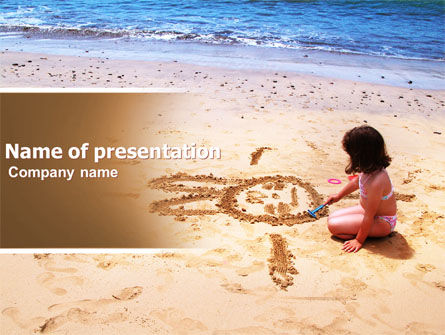 People: Sand Drawing PowerPoint Template #05139