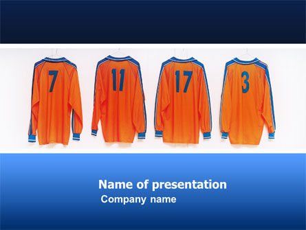 Football T-shirts PowerPoint Template