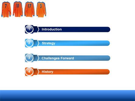 Football T-shirts PowerPoint Template, Slide 3, 05140, Careers/Industry — PoweredTemplate.com
