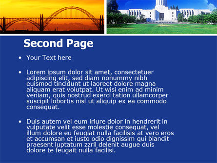 Oregon PowerPoint Template, Slide 2, 05142, America — PoweredTemplate.com