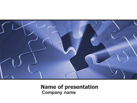 Last Puzzle Needed PowerPoint Template, 05143, Business Concepts — PoweredTemplate.com