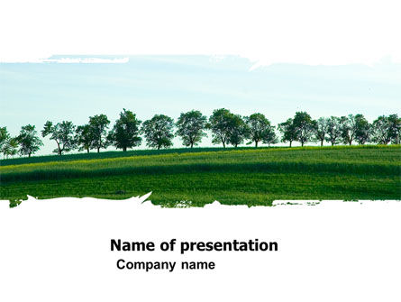Skyline PowerPoint Template, 05144, Nature & Environment — PoweredTemplate.com