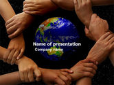 Global: Holding Hands PowerPoint Template #05147