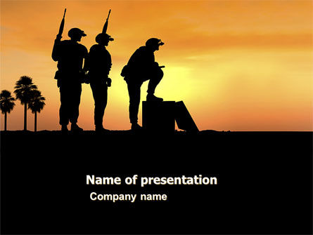 Spec Ops PowerPoint Template, 05148, Military — PoweredTemplate.com