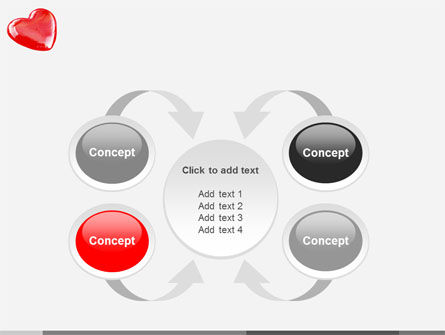 Red Heart PowerPoint Template Slide 6