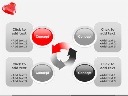 Red Heart PowerPoint Template Slide 9