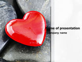 Holiday/Special Occasion: Red Heart PowerPoint Template #05150