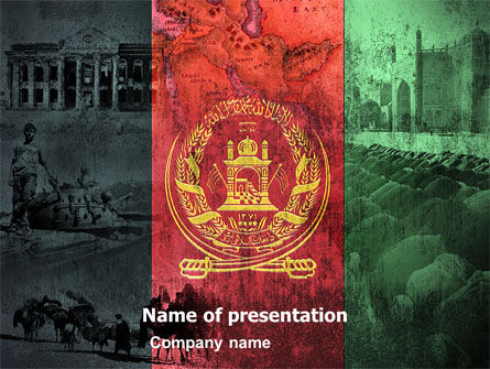 Afghanistan PowerPoint Template, 05152, Flags/International — PoweredTemplate.com