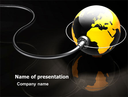 Plugged In PowerPoint Template, 05153, Global — PoweredTemplate.com