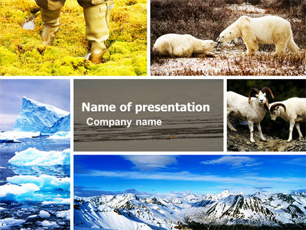 Tundra PowerPoint Template, 05154, Nature & Environment — PoweredTemplate.com