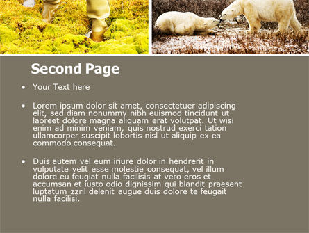 Tundra PowerPoint Template, Slide 2, 05154, Nature & Environment — PoweredTemplate.com