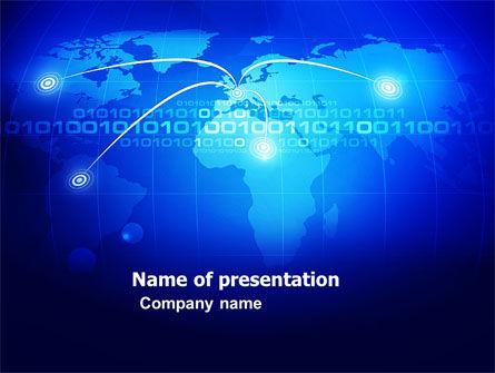 Telecommunication: IP Address PowerPoint Template #05155