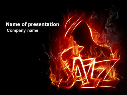 Jazz PowerPoint Template, 05158, Art & Entertainment — PoweredTemplate.com