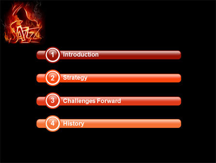 Jazz PowerPoint Template, Slide 3, 05158, Art & Entertainment — PoweredTemplate.com